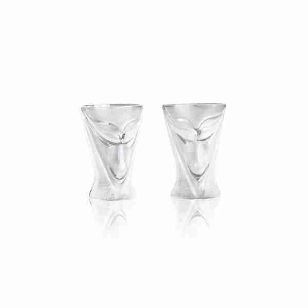 Best shot glass Lucifer clear pack of 2