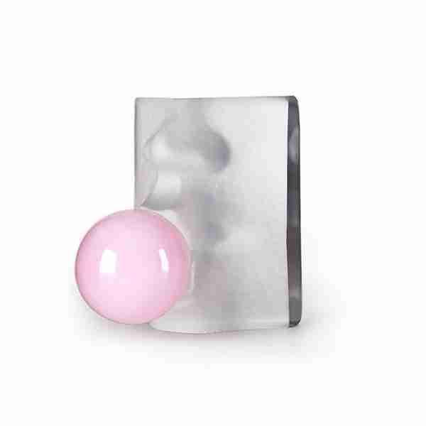 Modern Pink Bubble Face Sculpture