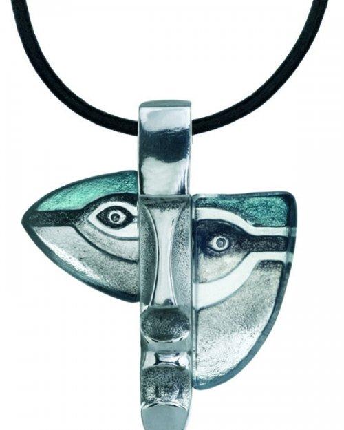 Necklace Atle grey/blue