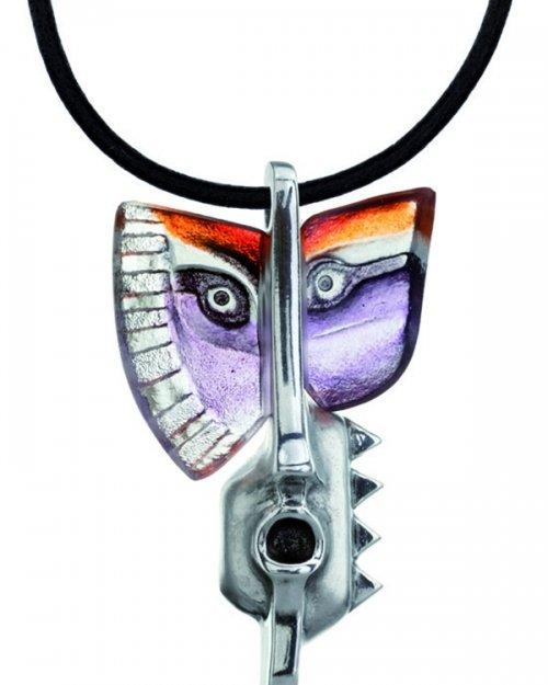 Necklace Rurik purple/orange