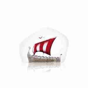 Viking Ship Small red